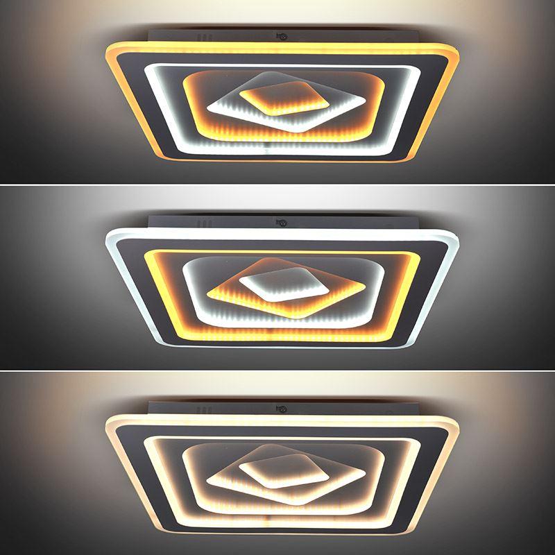Solight LED stropní světlo Cascade, čtvercové, 86W, 4730lm, dálkové ovládání