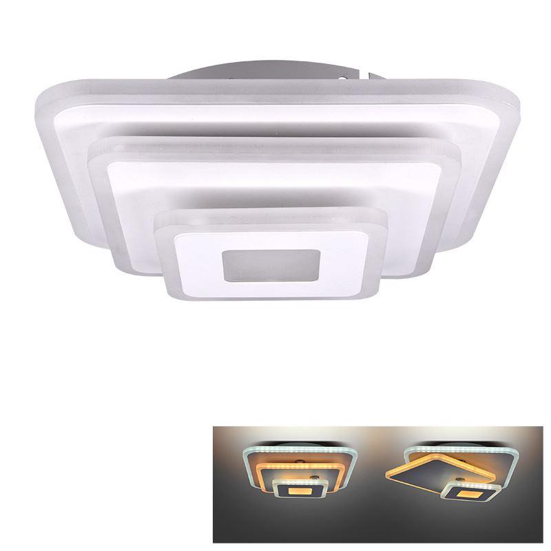 Solight LED přisazené světlo Cascade, malé čtvercové, 30W, 1650lm
