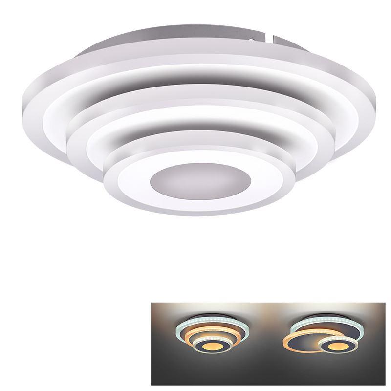 Solight LED přisazené světlo Cascade, malé kulaté, 27W, 1485lm