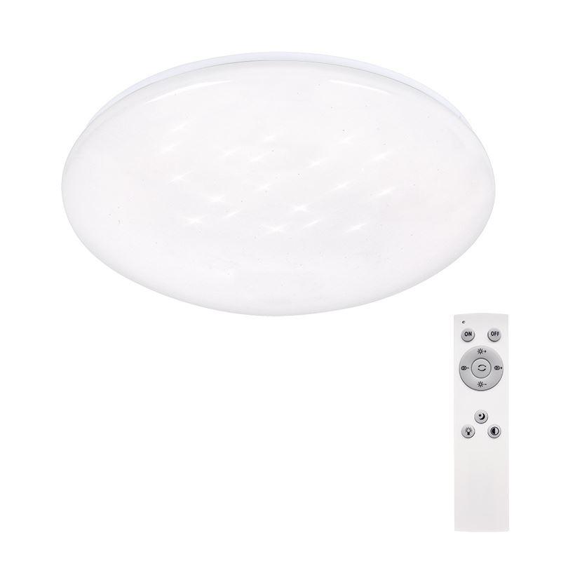 Solight LED stropní světlo Star, kulaté, 24W,1440lm, dálkové ovládání, 37cm