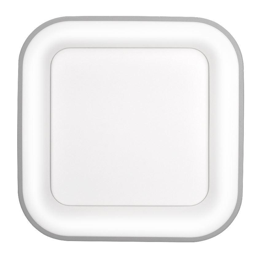 Solight LED stropní světlo čtvercové Treviso, 48W, 2880lm, stmívatelné, dálkové ovládání, šedá
