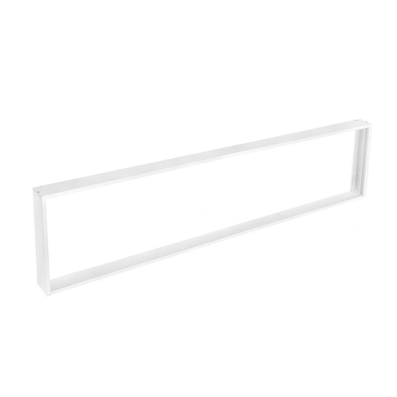 Solight hliníkový bílý rám pro instalace 295x1195mm LED panelů na stropy a zdi, výška 68mm