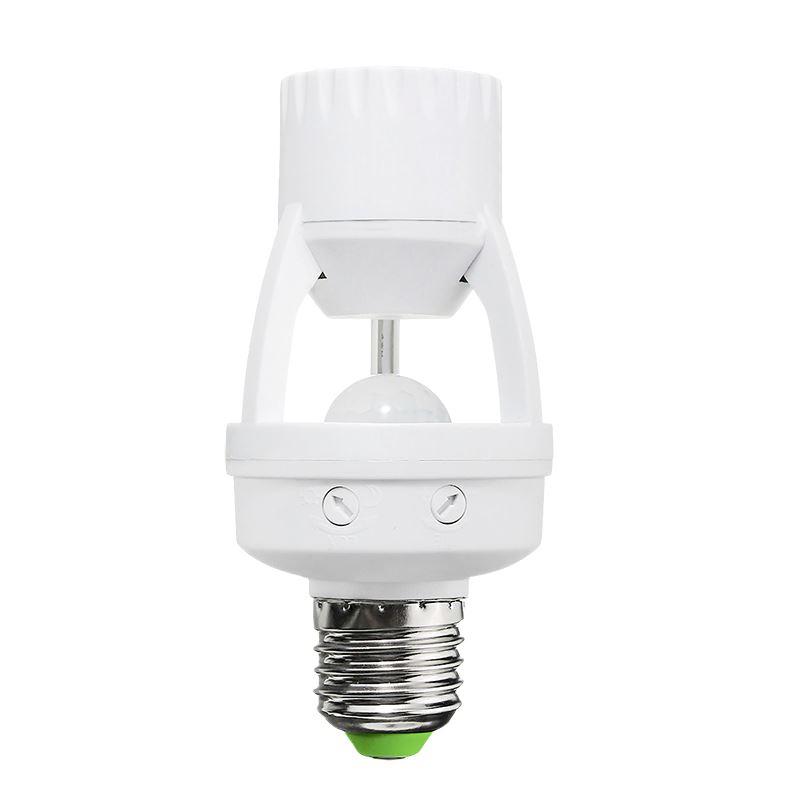 Solight PIR senzor pro E27 žárovku, bílý