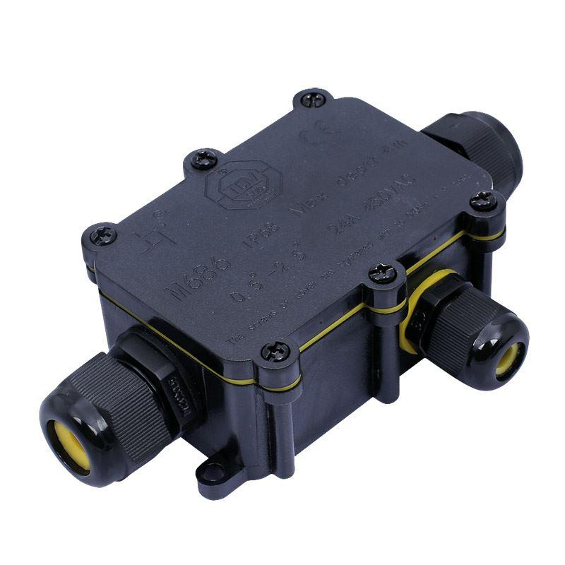 Solight voděodolná propojovací krabička IP68, 1x vstup, 2x výstup, 5-9/9-12mm, max 2,5mm2