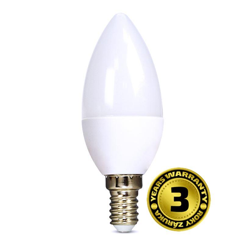 Solight LED žárovka, svíčka, 6W, E14, 4000K, 450lm