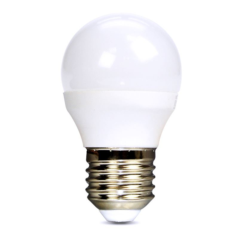 Solight LED žárovka, miniglobe, 6W, E27, 3000K, 510lm