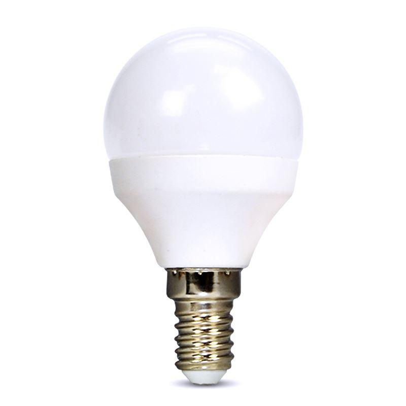 Solight LED žárovka, miniglobe, 4W, E14, 3000K, 340lm, bílé provedení