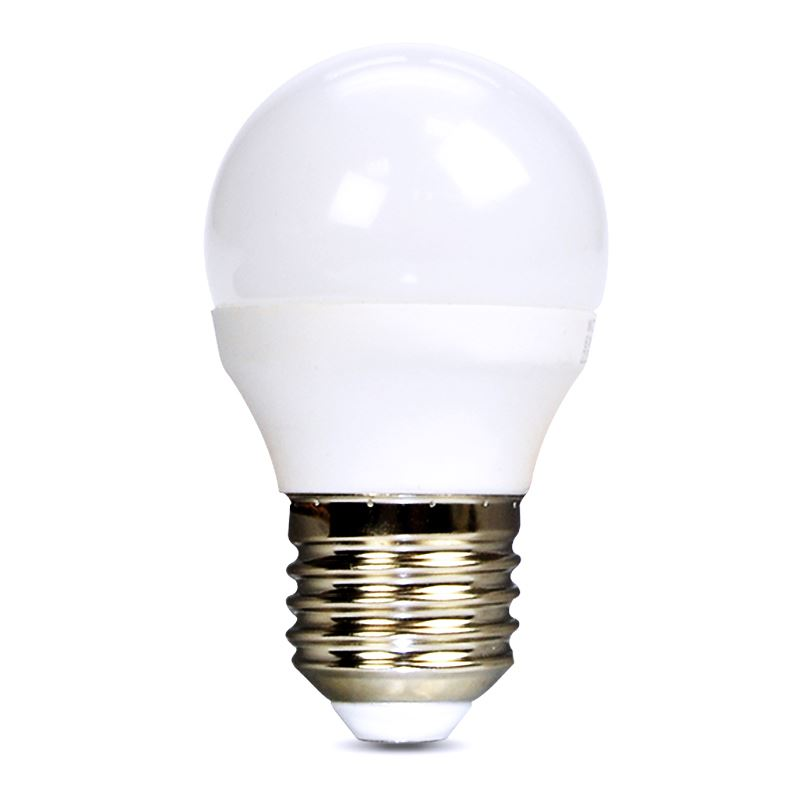 Solight LED žárovka, miniglobe, 6W, E27, 4000K, 510lm
