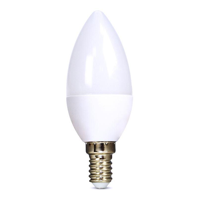 Solight LED žárovka, svíčka, 6W, E14, 6000K, 510lm