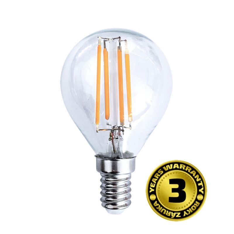 Solight LED žárovka retro, miniglobe, 4W, E14, 3000K, 360°, 440lm
