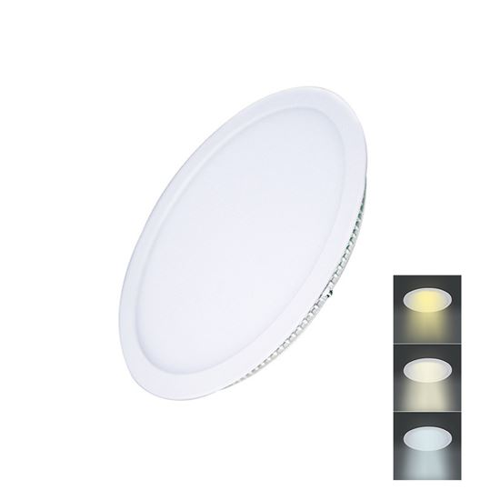 Solight LED mini panel CCT, podhledový, 12W, 900lm, 3000K, 4000K, 6000K, kulatý