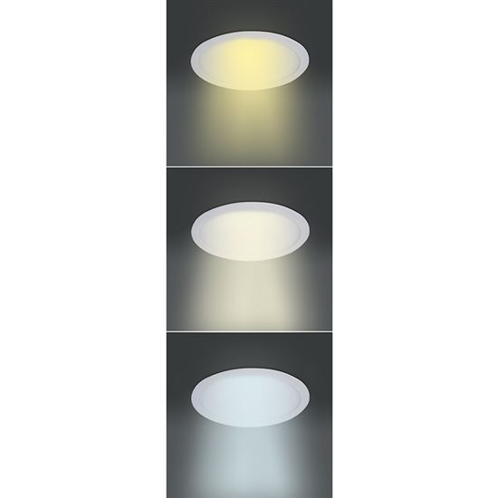 Solight LED mini panel CCT, podhledový, 18W, 1530lm, 3000K, 4000K, 6000K, kulatý