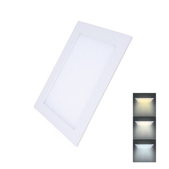 Solight LED mini panel CCT, podhledový, 18W, 1530lm, 3000K, 4000K, 6000K, čtvercový