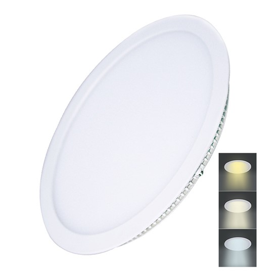 Solight LED mini panel CCT, podhledový, 24W, 1800lm, 3000K, 4000K, 6000K, kulatý