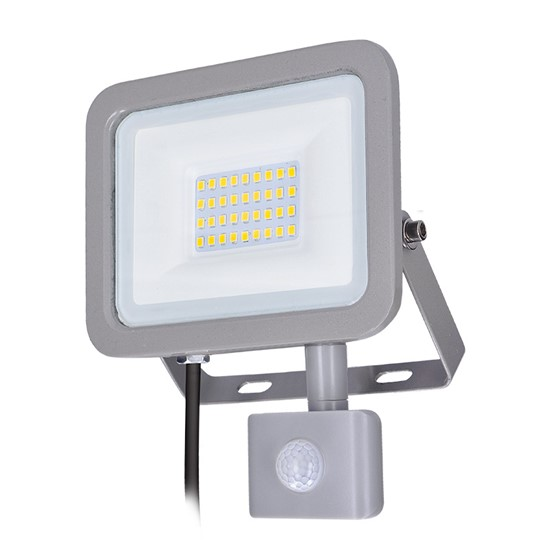 Solight LED reflektor Home se sensorem, 30W, 2250lm, 4000K, IP44, šedý